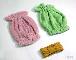 毛巾美容用帽 发帽(发带)