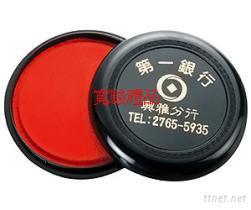 50620385 10.2 cm黑色圆形印泥盒