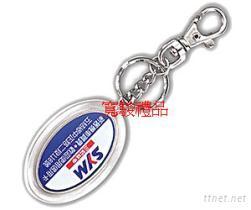 50710109 椭圆压克力勾链钥匙圈