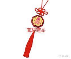 50620442 中国结八卦金箔吊饰