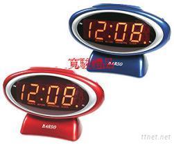 11732109 桌上型椭圆LED数字鬧钟