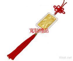 50670229 中国结钻石边金箔吊饰