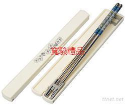 23cm不鏽鋼自動盒環保筷
