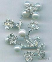 珍珠鑽胸針
