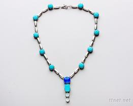 藍色鋯石項鍊