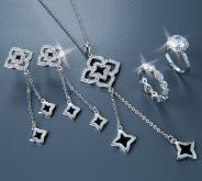 流行項鍊耳環戒指飾品組