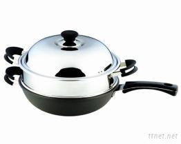 不鏽鋼蒸炒鍋