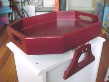 木質夾式點心桌