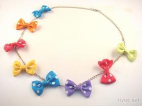彩色蝴蝶結項鍊
