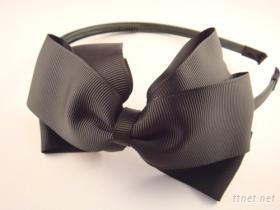 黑色緞帶蝴蝶結髮箍