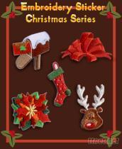 聖誕刺繡貼