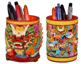冷漿陶瓷(俗稱波麗)龍筆筒