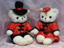 婚禮小物-中國風泰迪熊