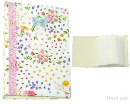 布料封面相冊 瑰花園圖案