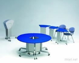 會議扇形桌