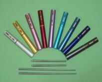 筆夾型不鋼彈壓伸縮筷