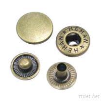 彈簧釦, 金屬彈簧釦, 壓釦