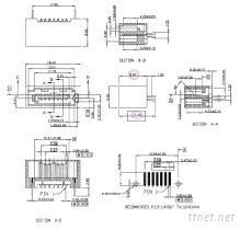 電腦主機板連接器- SATA 7pin