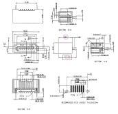 电脑主机板连接器- SATA 7pin