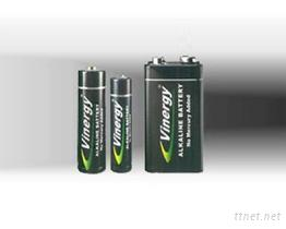 鹼性柱型電池
