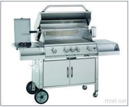 4爐頭高級全不鋼廂型台車烤肉爐