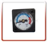 供應48*48MM黑色塑殼帶夾子方形壓力表