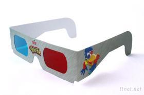 3D立体纸眼镜(有零售镜片)