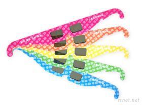 3D线性偏光纸眼镜