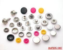 四合釦, 彈簧押釦, 金屬鈕釦, 塑鋼釦