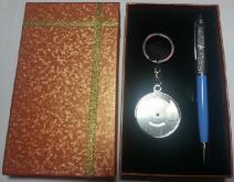 水晶筆+萬年曆禮盒, 水晶筆, 禮品筆, 禮品, 金屬鑰匙圈, 萬年曆, 贈品筆, 贈品, 禮品