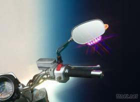 機車照後鏡警示燈