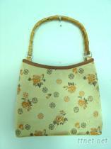 錦緞竹子手挽女士手提包