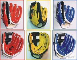 柔软皮PVC双色棒球手套
