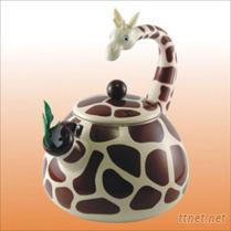 人气王长颈鹿珐瑯茶壶