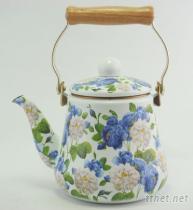 山茶花 琺瑯茶壺