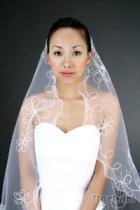 新娘特色繡花頭紗