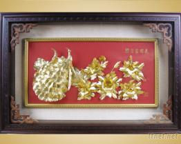 金箔昼艺术品