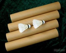 台纖球頭+鴨毛細桿=12.99元/打的練習用羽毛球