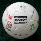 我们公司给日本商社贴牌加工的足球