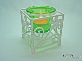 小花造型玻璃燭臺