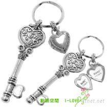 心鎖相框鑰匙圈