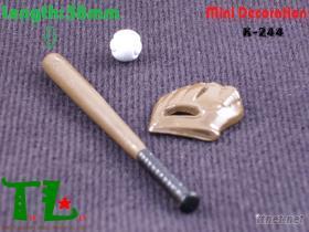 袖珍娃娃屋配件(迷你棒球组&迷你高尔夫球组)