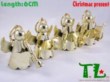 圣诞金色乐器天使吊饰