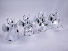 圣诞银色乐器天使吊饰