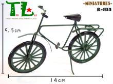 袖珍娃娃屋配件(迷你復古腳踏車)