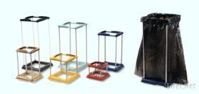 多功能伸縮型垃圾袋/ 塑膠袋置放架