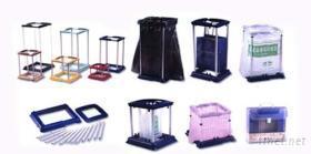 多功能伸縮型垃圾袋/塑膠袋置放架