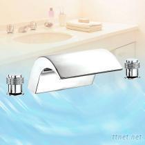 海浪瀑布浴缸龙头