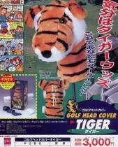 老虎頭造型高爾夫球桿套