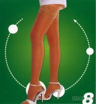 蕾絲大腿彈性健康襪